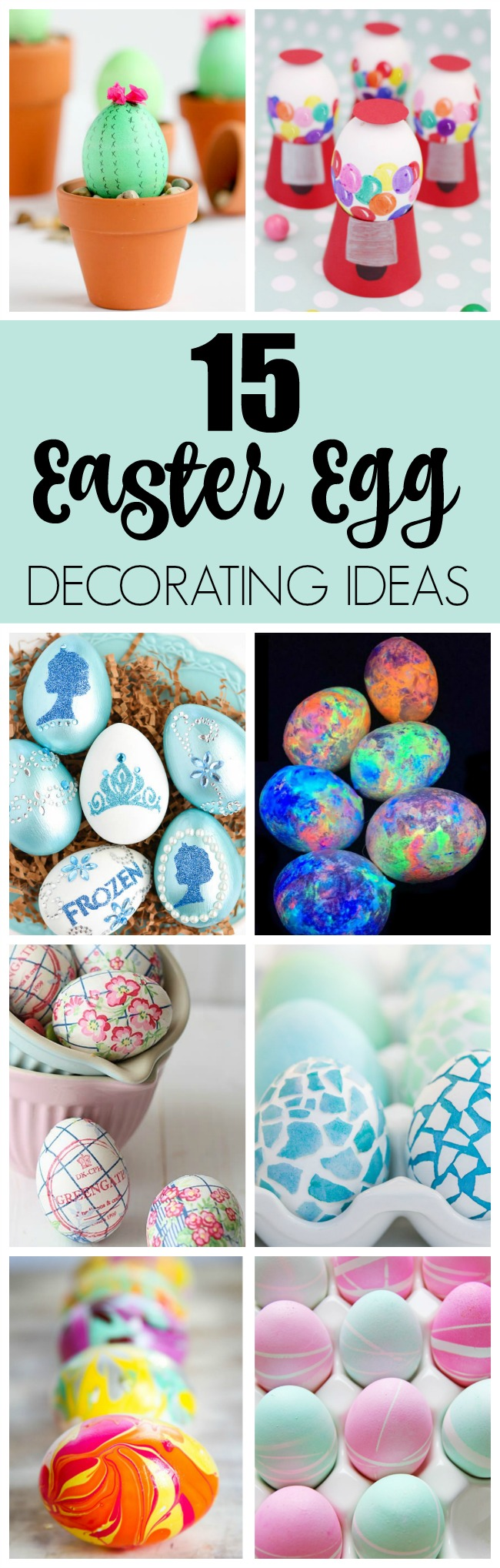 15 Creative Easter Egg Decorating Ideas