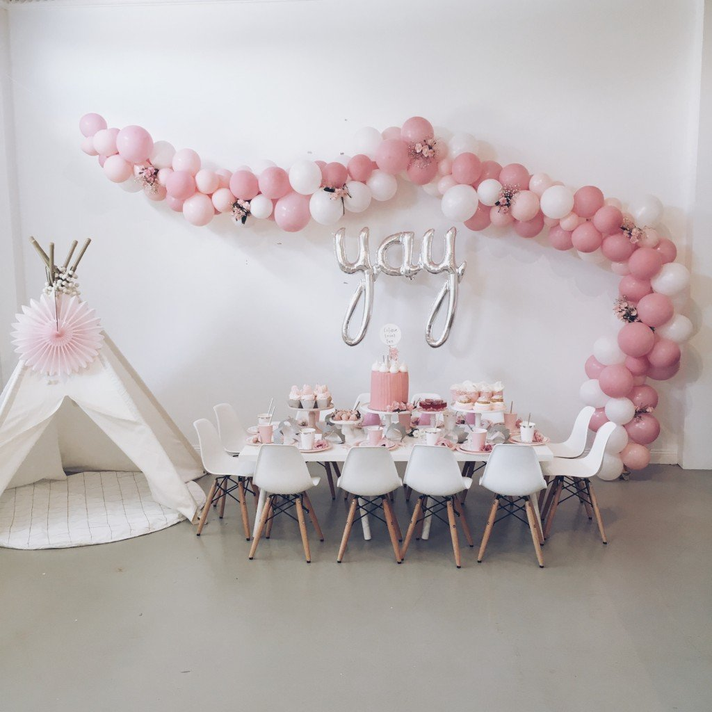 Balloon garland party ideas pretty my