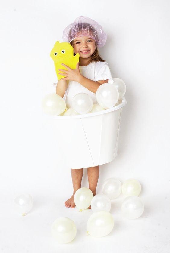 DIY Balloon Bubble Bath Costume