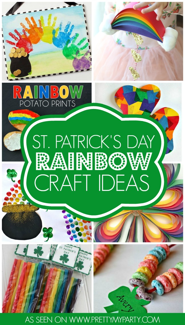 10 st patrick 39 s day rainbow crafts pretty my party for St patrick day craft ideas