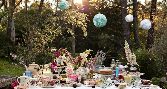 Playful Vintage Tea Party
