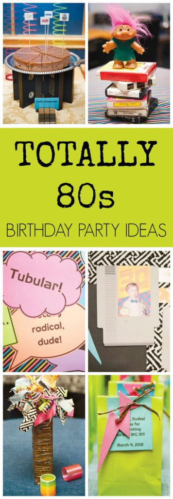 Totally 80s Themed Birthday Party Ideas | Pretty My Party