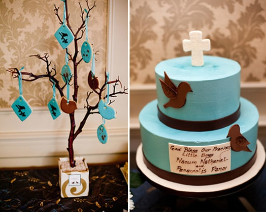 Robin's Egg Themed Baptism | Pretty My Party