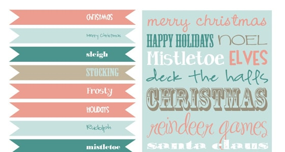 free vintage holiday printables pretty my party - Holiday Printables Free