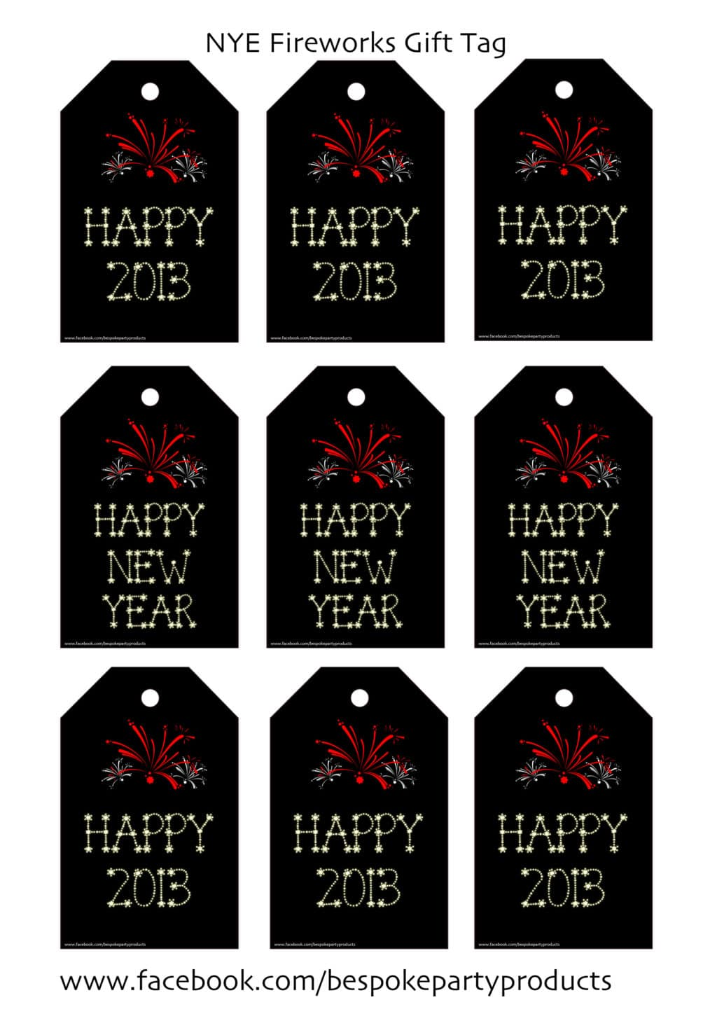 Happy New Year Label Printable | New Calendar Template Site