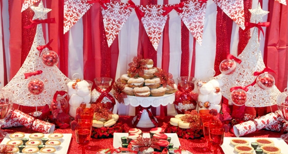 Red Holiday Dessert Table Archives Pretty My Party