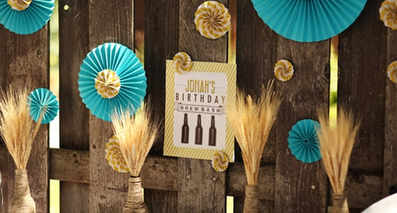 Fashionable Balloon Decoration Ideas For Home Birthday Party At Backyard Brew Bash