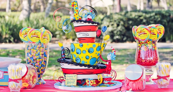 Incredible A Special Dr Seuss First Birthday Pretty My Party Party Ideas Funny Birthday Cards Online Alyptdamsfinfo