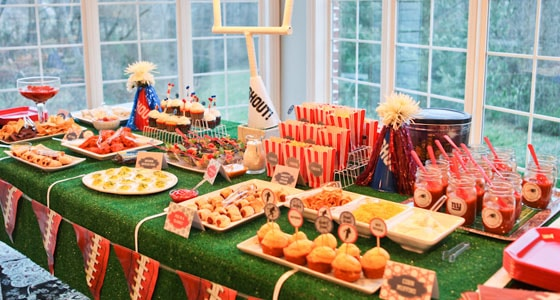 Super Bowl Party Dessert Table