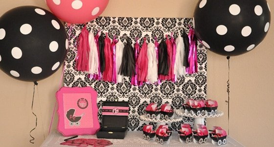 Pink & Black Glam Baby Shower