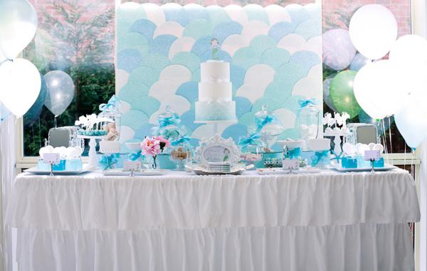 Mermaid Under the Sea Party Dessert Table
