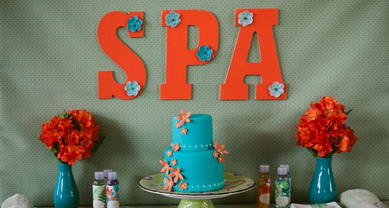 Spa Themed Birthday Party