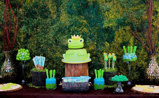 Adorable Frog Prince Baby Shower