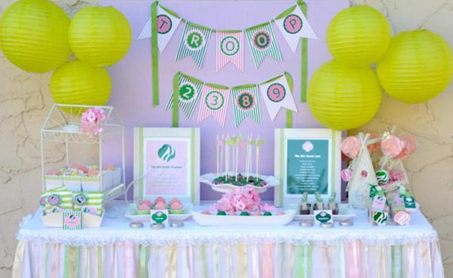 Girl Scouts Themed Party