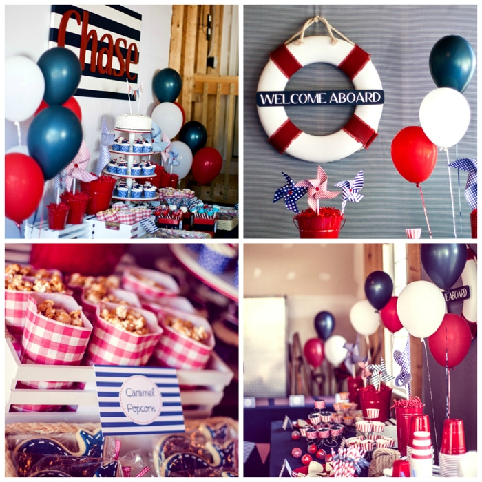 Nautical 1st Birthday Party - Pretty My Party