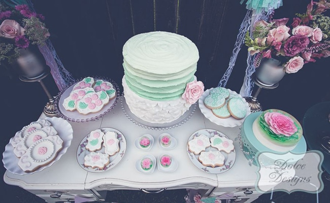 Romantic Mint & White Styled Shoot