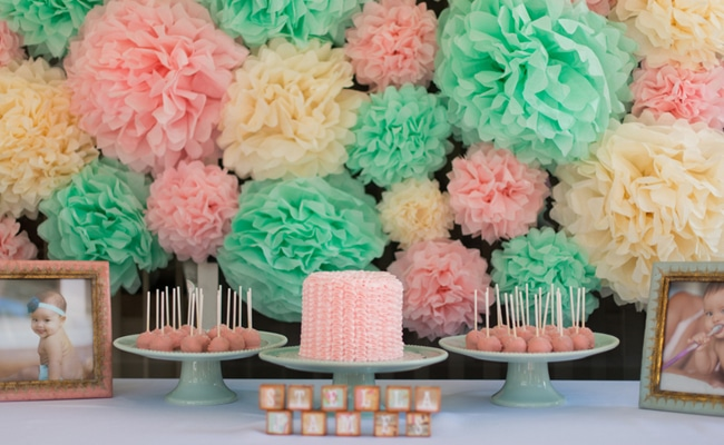 Pretty Pink and Mint First Birthday