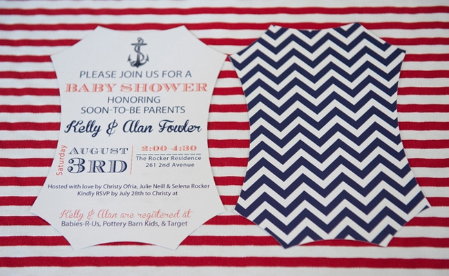 Co-ed Nautical Baby Shower
