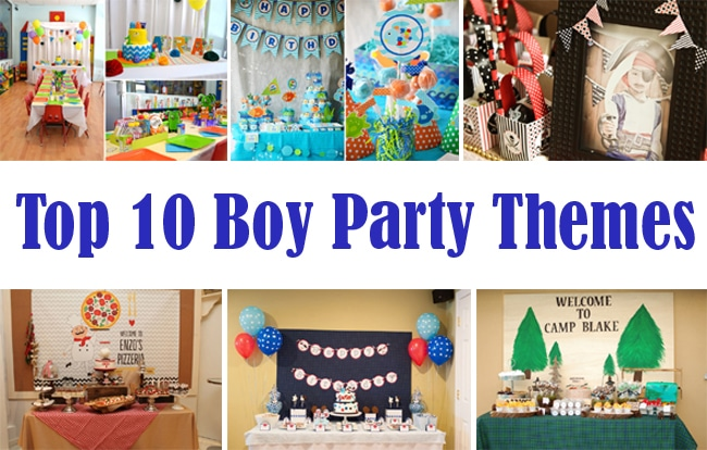 Top 10 Boy Party Themes Pretty My Party