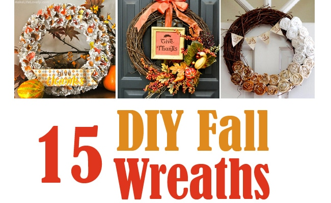 15 DIY Festive Fall Wreaths