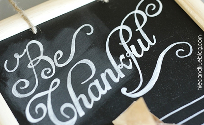 Be Thankful Gratitude Calendar DIY