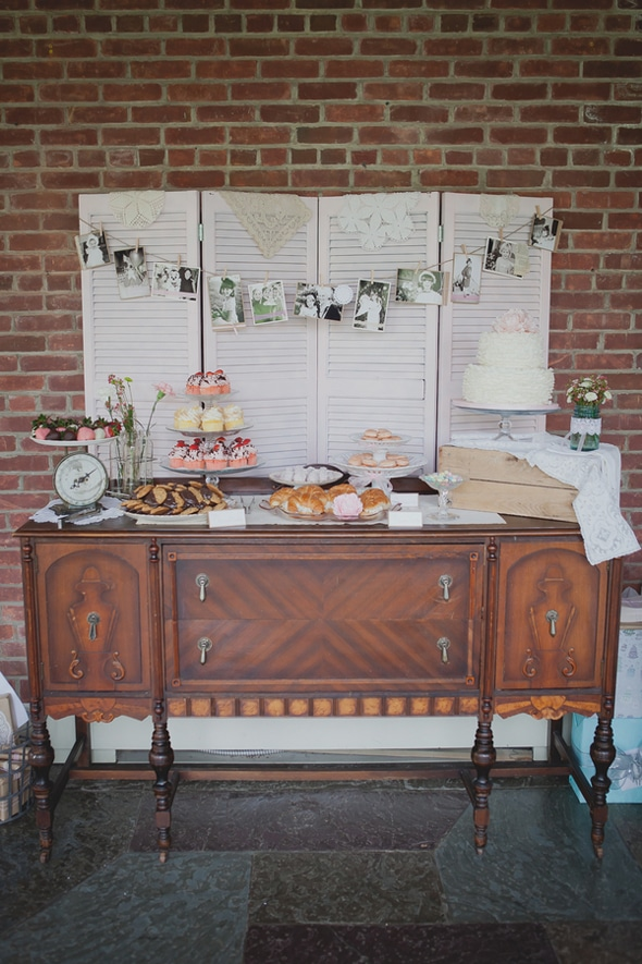 Tea Party Bridal Shower Dessert Table
