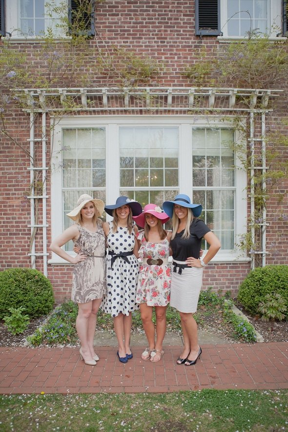 Tea Party Bridal Shower Dresses and Hats