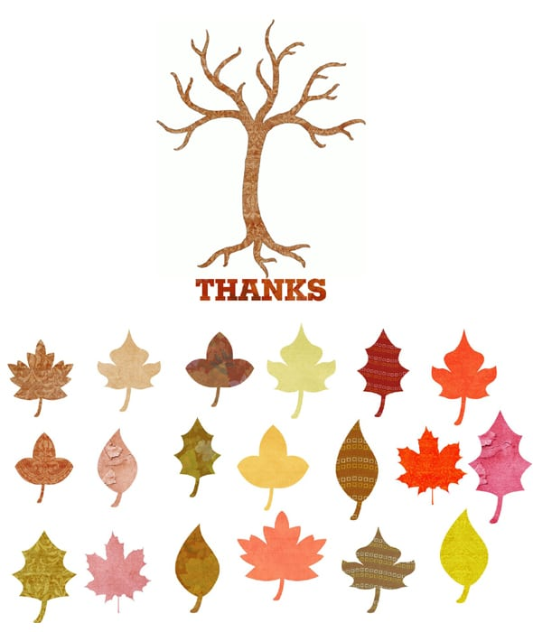 Exhilarating image for thankful tree printable