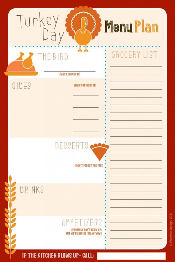 Thanksgiving potluck signup joy studio design gallery for Party menu planner template