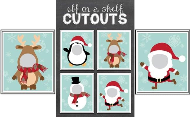 Free Elf on the Shelf Cutout Printables