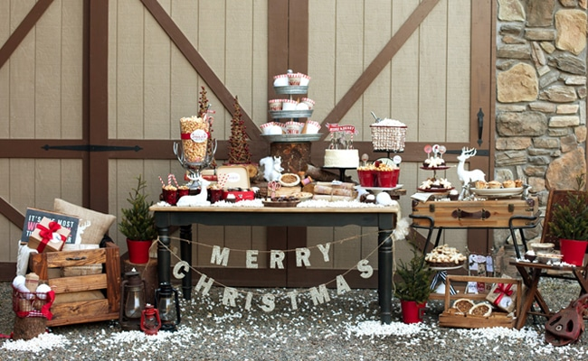 Rustic woodland holiday styled shoot pretty my party - Decor shooting photo ...