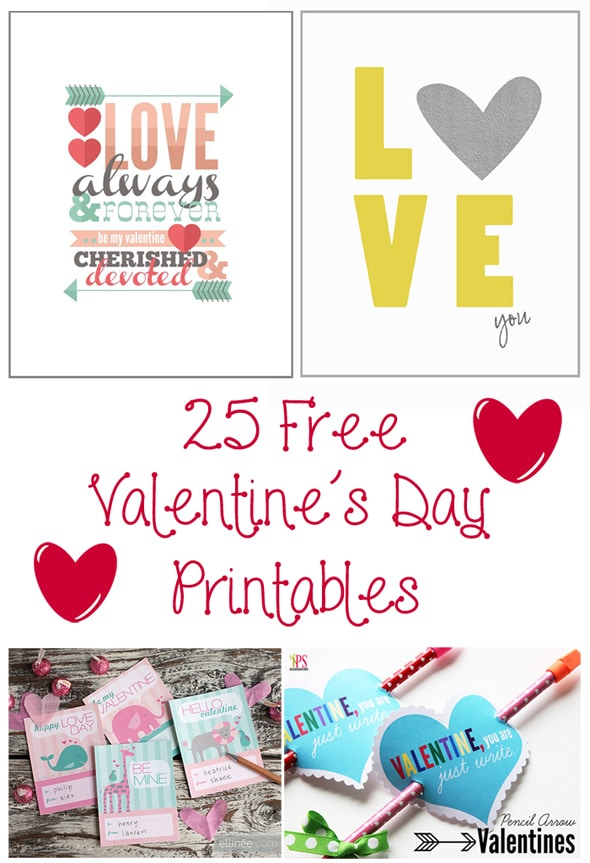 25 free valentine day printables