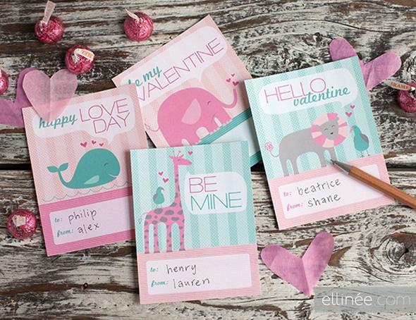 Kids Valentine free peintables