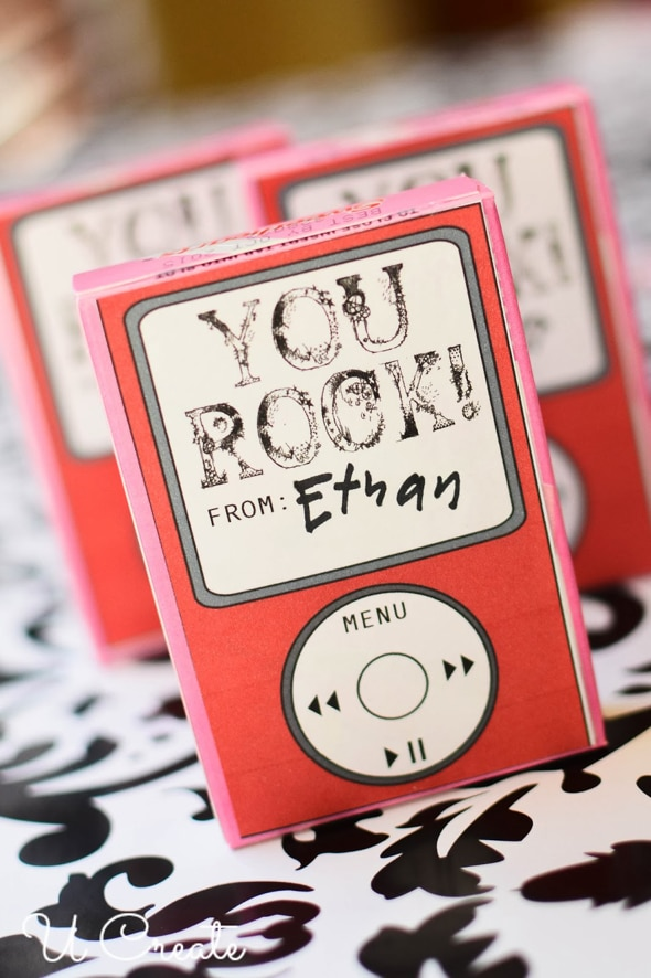 You Rock i pod valentine printables