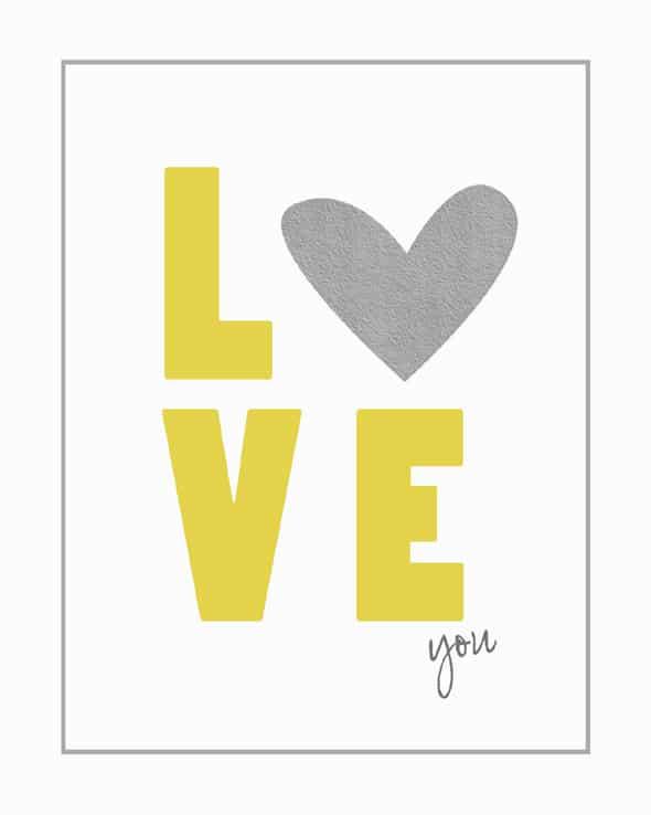 free love you printable