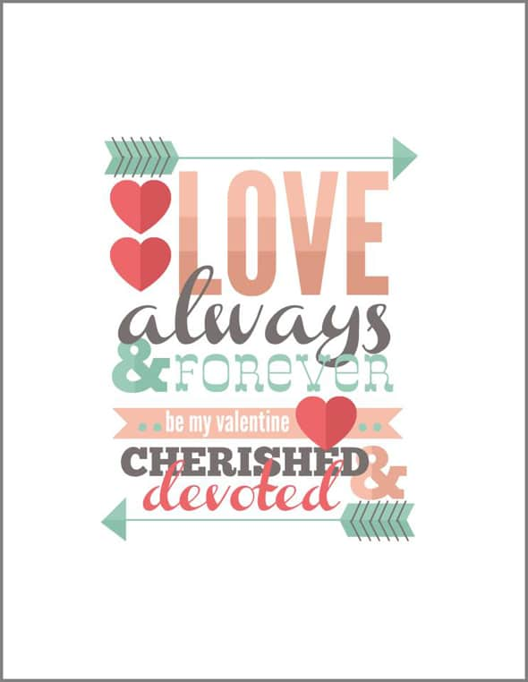 love always free valentine printable