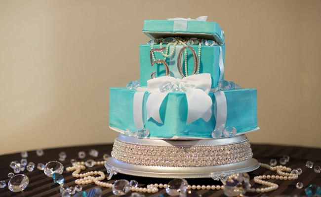 Tiffany Inspired 50th Birthday Party