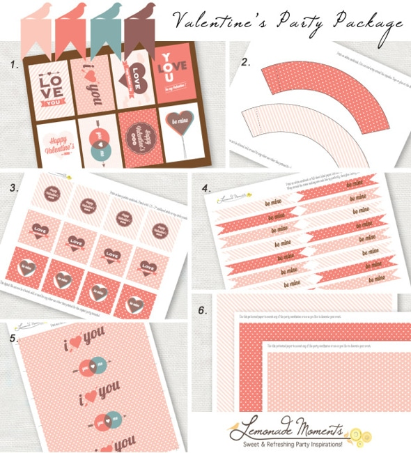 valentine party package printables