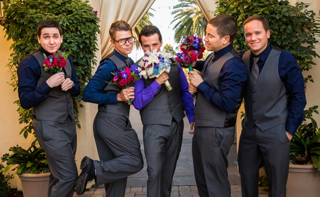 Modern Blue and Purple California Wedding