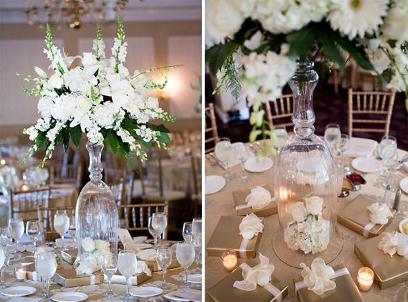 Ouro elegante e branco de casamento grego-6