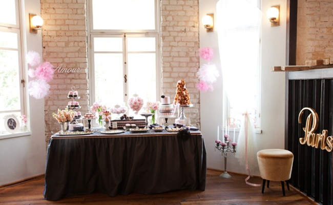 Pretty Pink Parisian Dessert Table