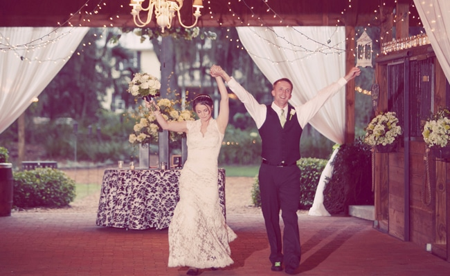 Rustic Chic Wedding With Green Details
