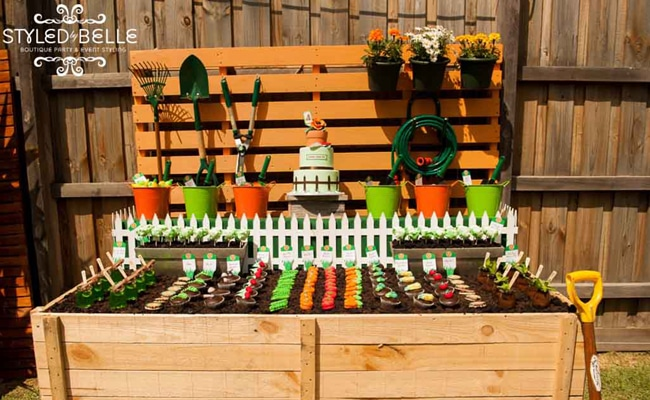 Fun creative veggie patch birthday party pretty my party for Veggie patch ideas