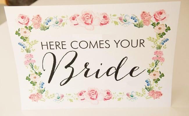 Floral Wreath Wedding Stationery & Free Printable