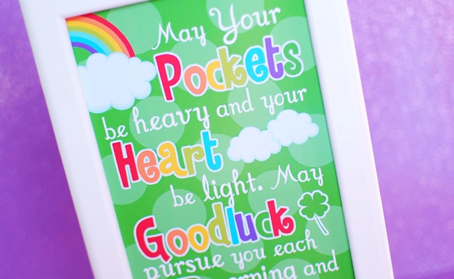 Free St. Patrick's Day Printable Sign