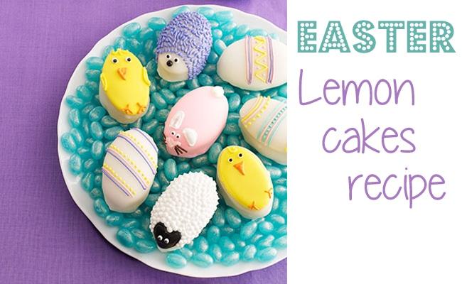 Easter Lemon Cakes Recipe