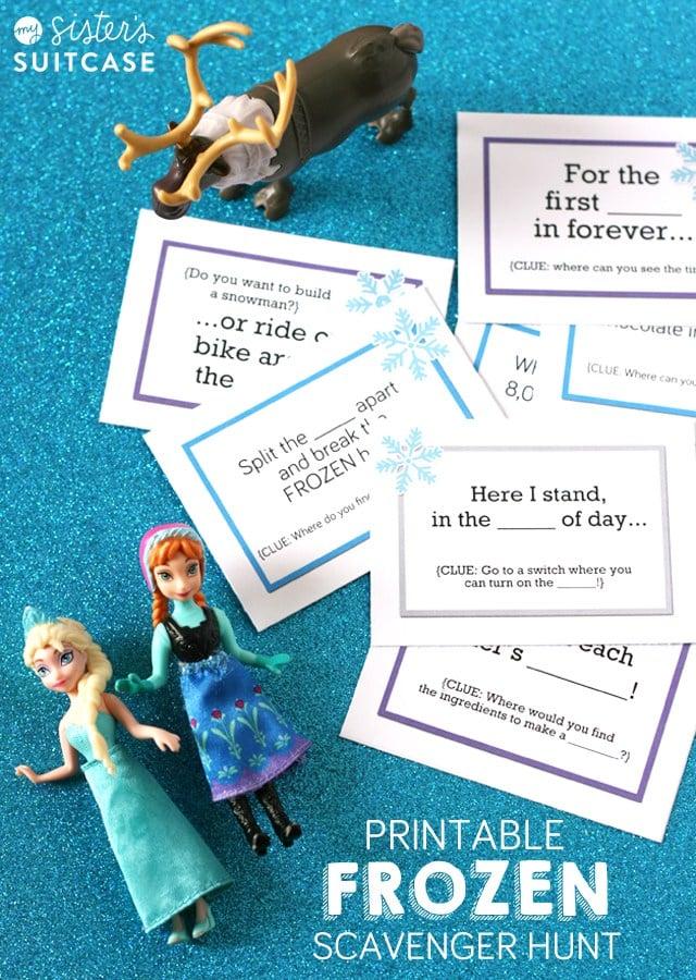 Free Frozen Scavenger Hunt Printables