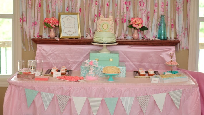 Vintage Rose Garden First Birthday Party