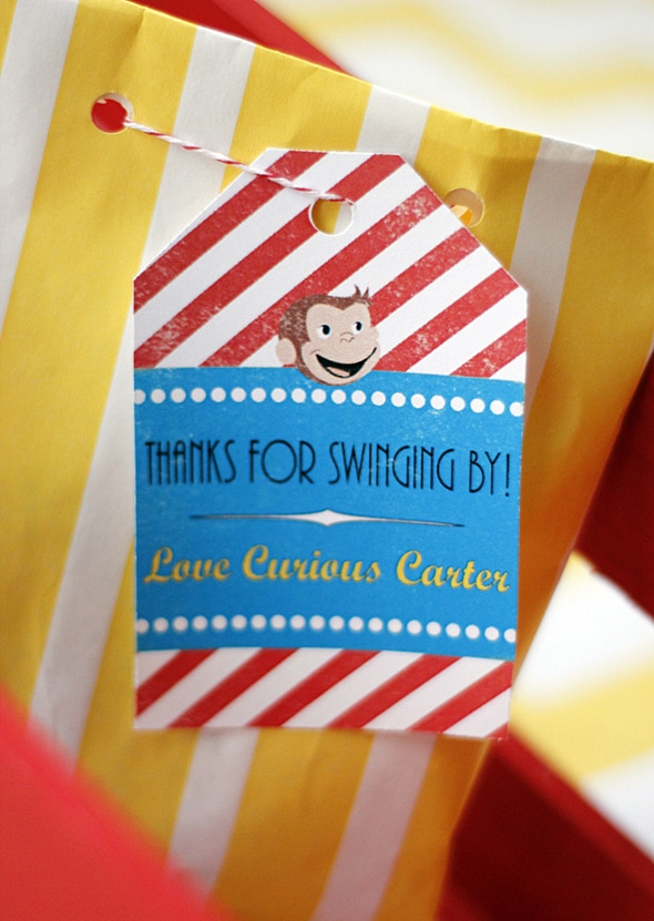 Curious George Birthday Party Favors - Curious George Party Ideas