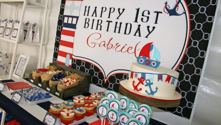 Nautical First Birthday Party Theme